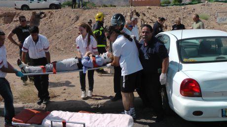 וידיאו ותמונות: 3 פצועים בתאונה בכביש העוקף