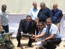 הונחה אבן פינה לנמל התעופה הבינלאומי 'רמון'