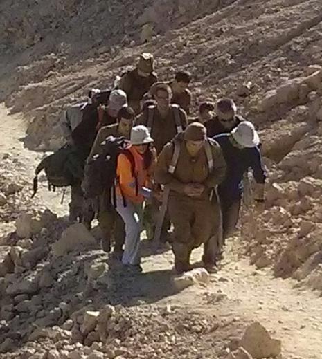 חילוץ מפרך בהרי אילת