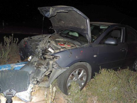 וידיאו ותמונות: פצוע בתאונת דרכים בעוקף