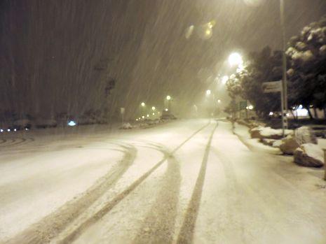 שלג מעל אילת