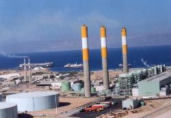 תחנת הכוח הירדנית מזהמת את האוויר באילת