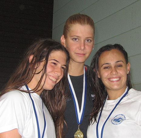 שחייה-ארבע מדליות בתחרות גל רודובסקי