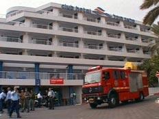 שישה פצועים קל בשריפה במלון 'קלאב הוטל'