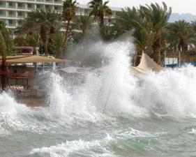 סערה דרומית באילת - אין נזקים