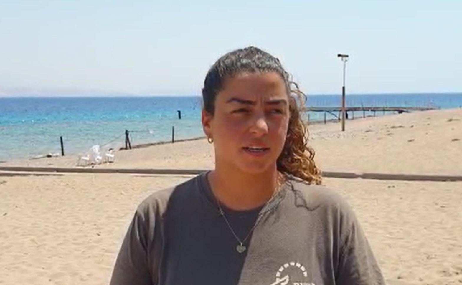 צפו בפקחית שאיתרה ותפסה את הירדני ששחה אל החוף באילת