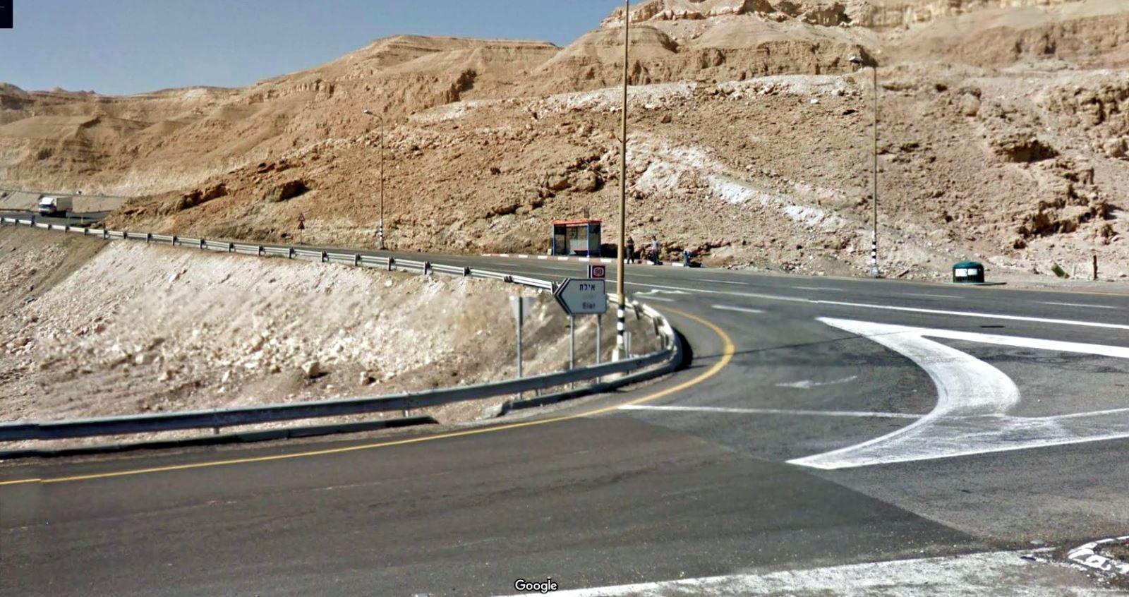 כביש 90 נחסם מצומת הערבה בשני הכיוונים