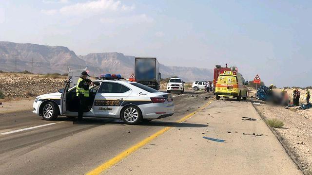 ליד מצדה: הרוגה בהתנגשות עם משאית בכביש הערבה
