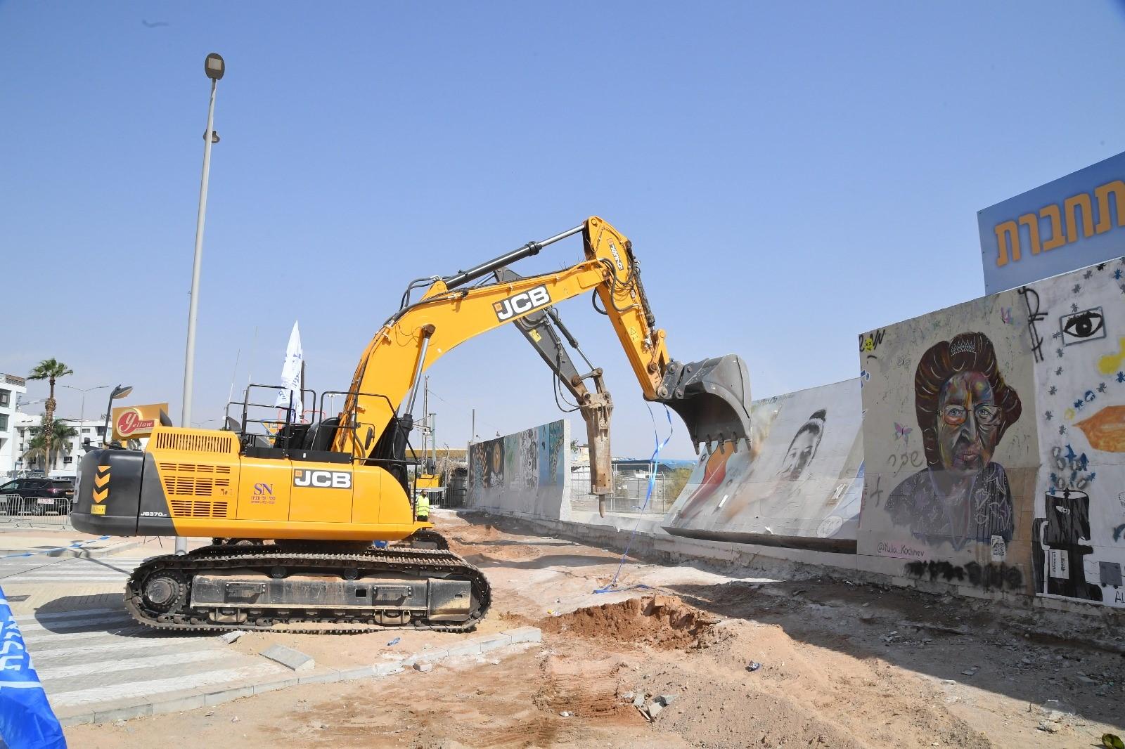 תם עידן - חומת שדה התעופה הישן באילת נהרסה והעיר אילת התחברה