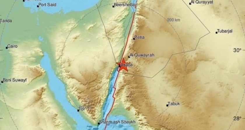 האדמה רעדה בפעם התשיעית בתוך חצי שנה באזור אילת
