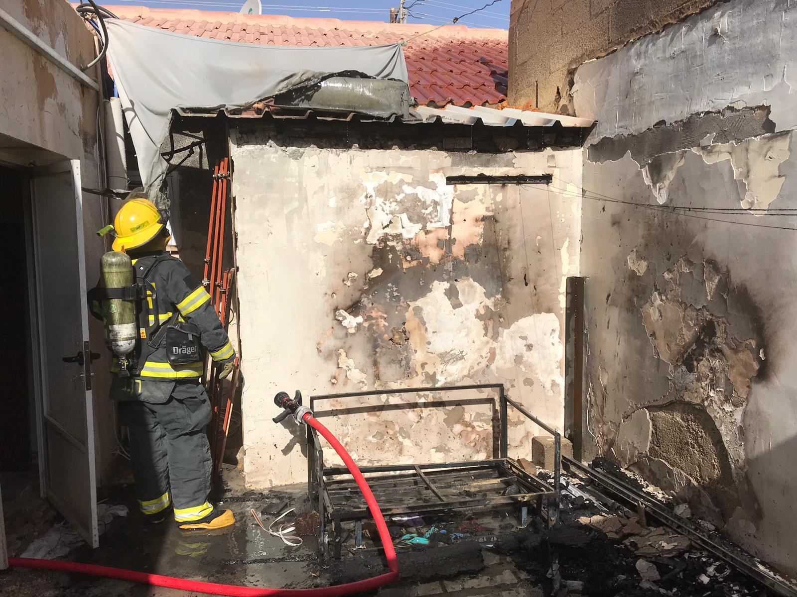 שריפה ביחידות דיור בשכונה א'