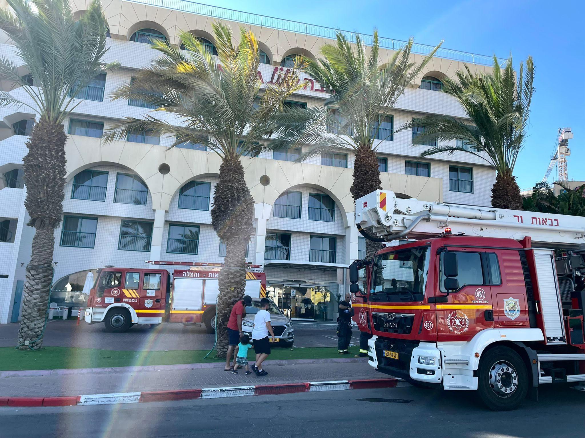 שריפה פרצה במלון באילת: יש נפגעים