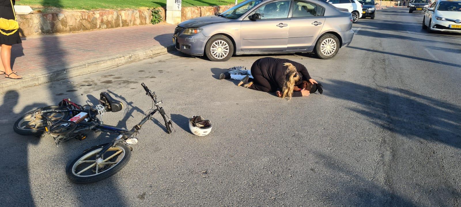 רוכב אופניים נפגע בשדרות התמרים באילת