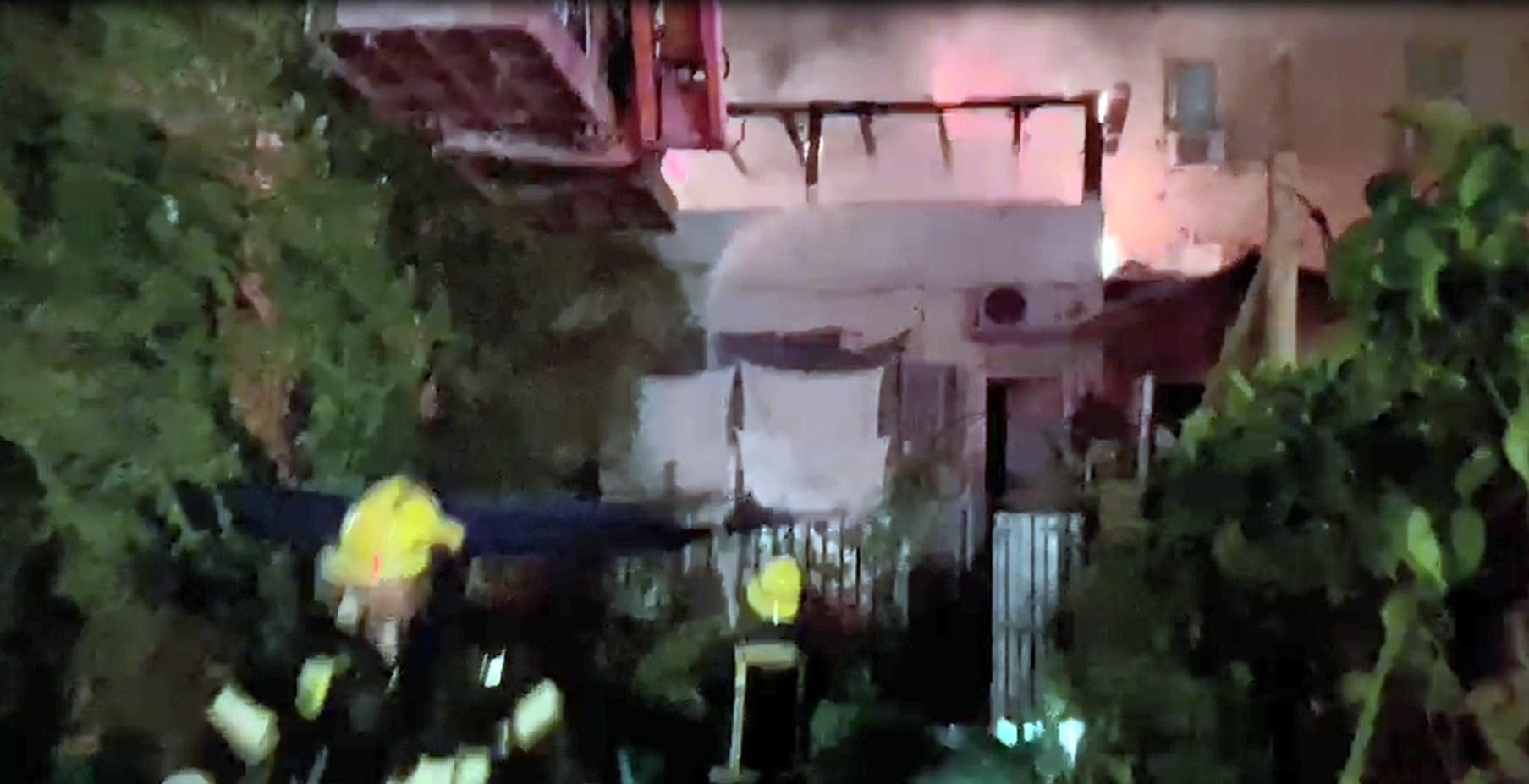 צפו: שריפה של מספר דירות בבניין מגורים באילת