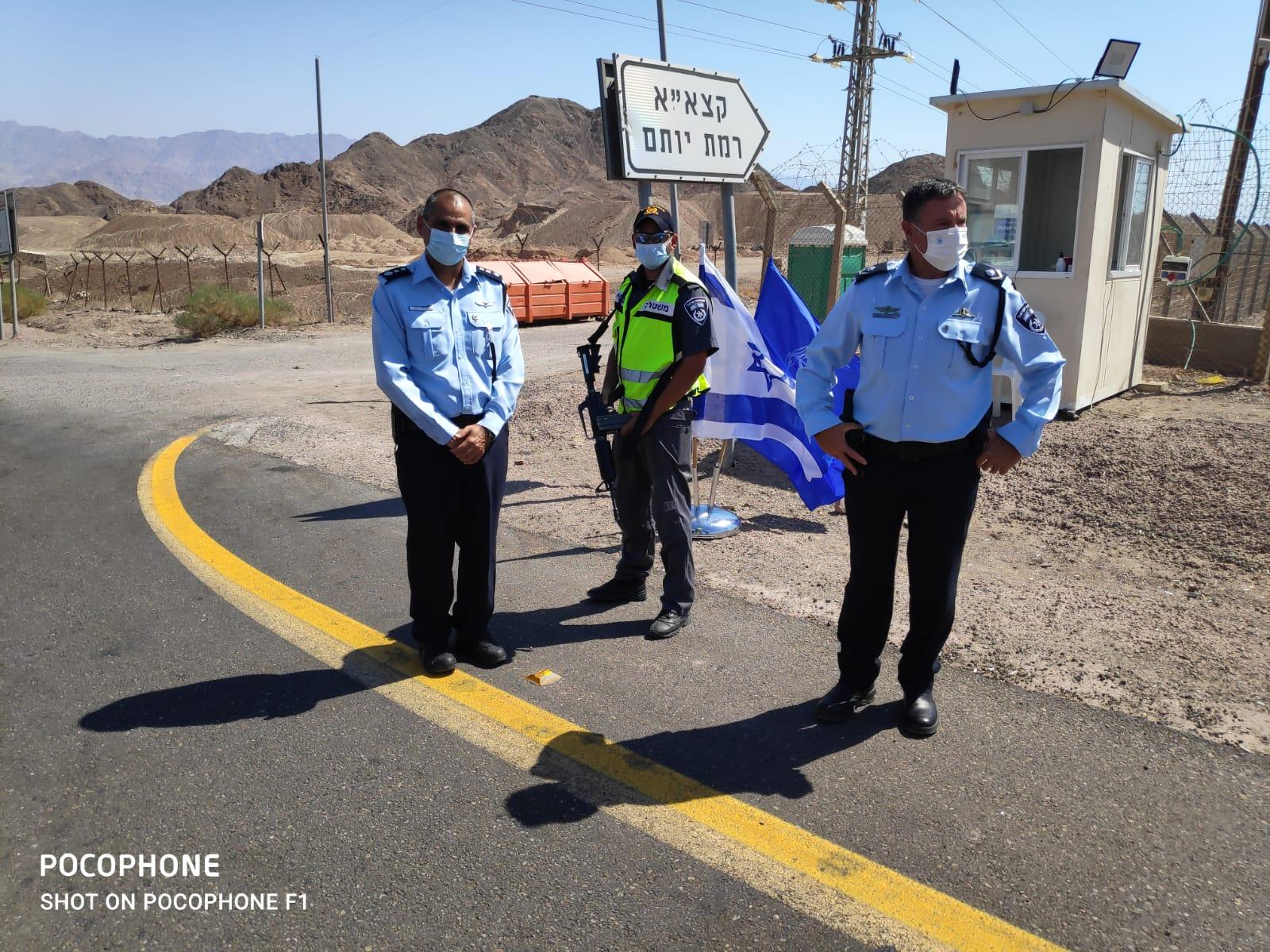 מפקד מחוז דרום של משטרת ישראל ניצב יורם סופר ערך סיור בגזרת מרחב אילת יחד עם מפקד מרחב אילת נצ''מ קובי מור