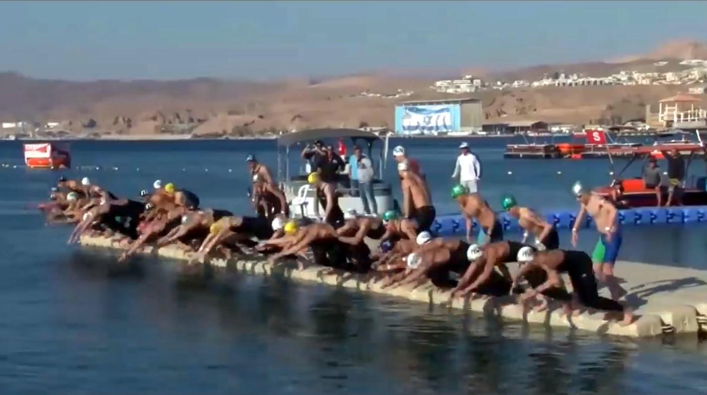 קרב גדול בתחרות הקריטריונים במים פתוחים באילת