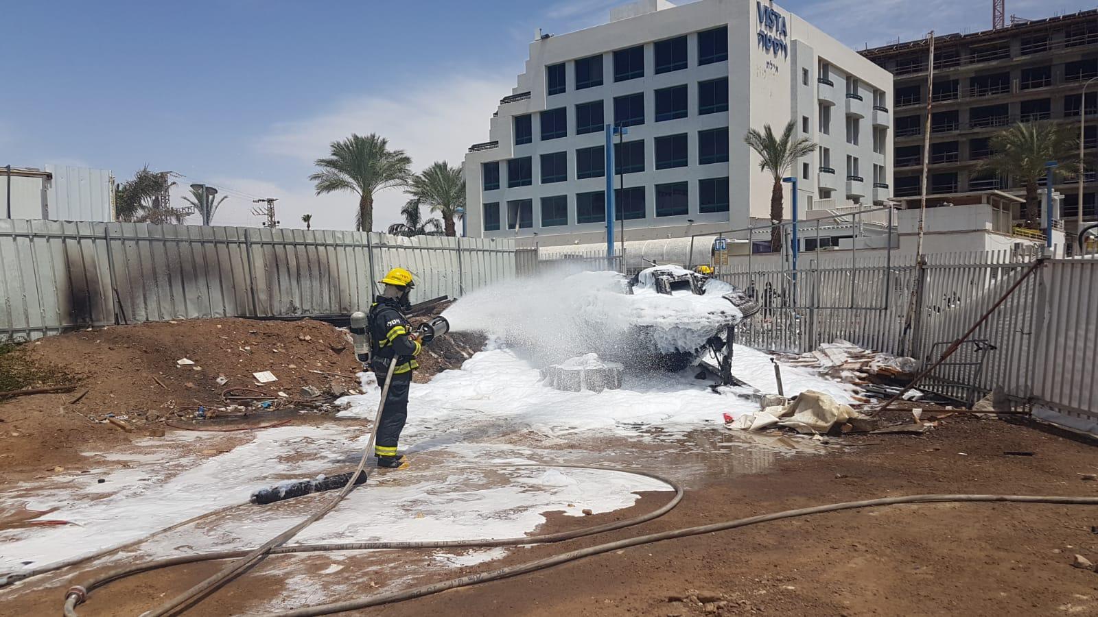 שריפה במלון אסטרל פאלמה באילת