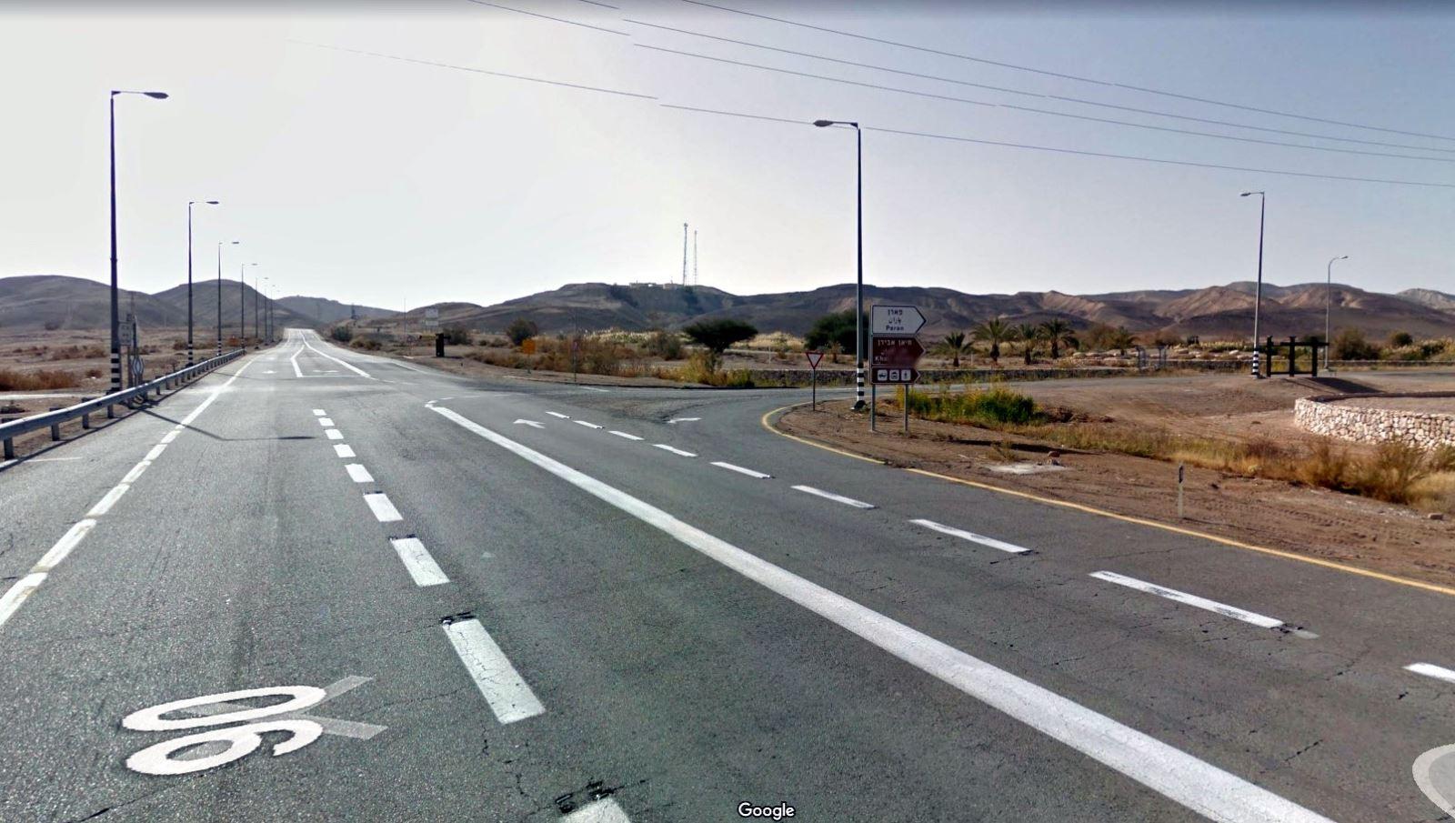 משטרת ישראל חסמה את כביש 90 לתנועה בשל תאונה מטופלת