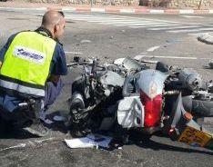 19% מנפגעי תאונות הדרכים באילת - נהגי אופנועים וקטנועים