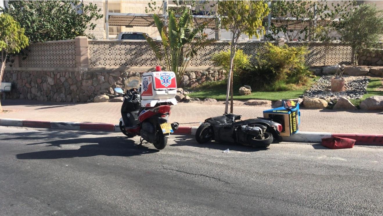 אילת: רוכב קטנוע נפצע באורח בינוני בתאונת דרכים עצמית