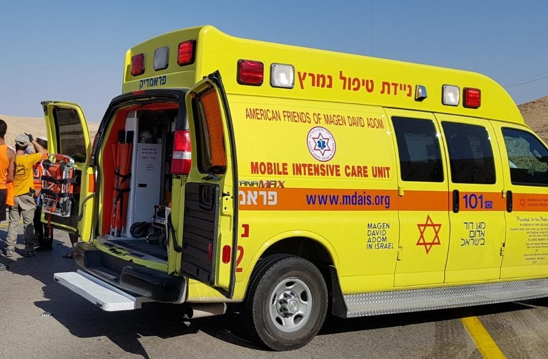 שני פצועים בתאונת דרכים מצפון לאילת