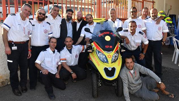 המתנדבים התחדשו באופנועים
