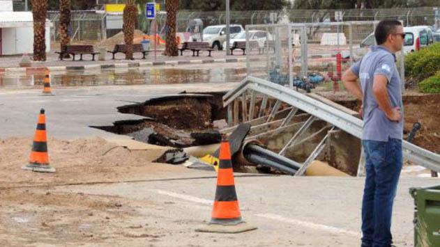 נזקי השיטפונות עלו  לעיריית אילת מעל 5 מיליון ש