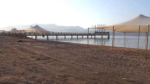 היסטוריה באילת חוף קצא''א נפתח לציבור