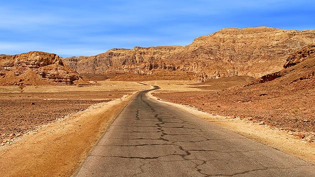 המלח של מפעלי ים המלח  הרס את כביש הערבה