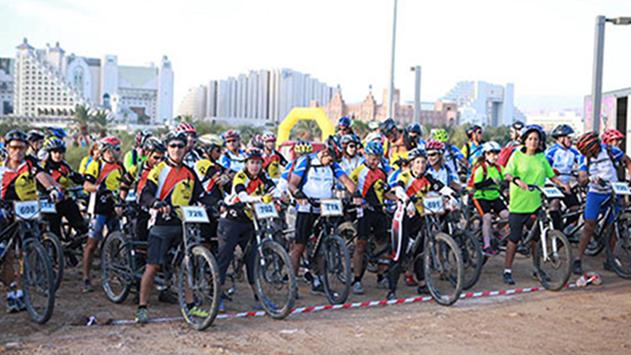 הפנינג רכיבת אופניים בפארק תמנע