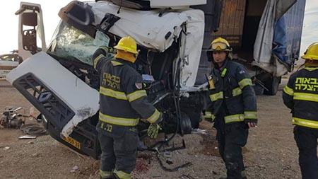 יום לאחר התאונה הקטלנית  בכביש 90 סמוך ליוטבתה  תאונה חזיתית סמוך לחצבה