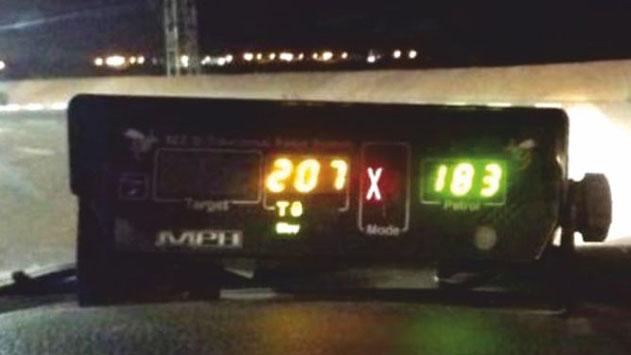 בן 24 טס במהירות של 207 קמ''ש בכביש הערבה