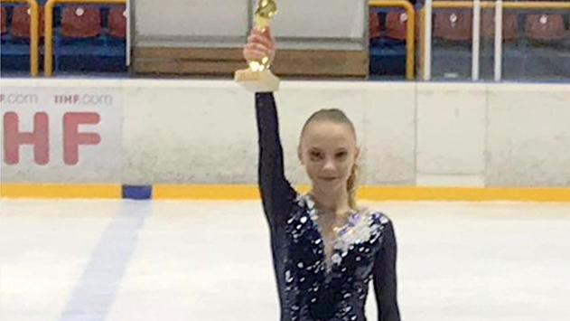 לראשונה נבחרה אילתית כחברת נבחרת  הנוער של ישראל בהחלקה על הקרח