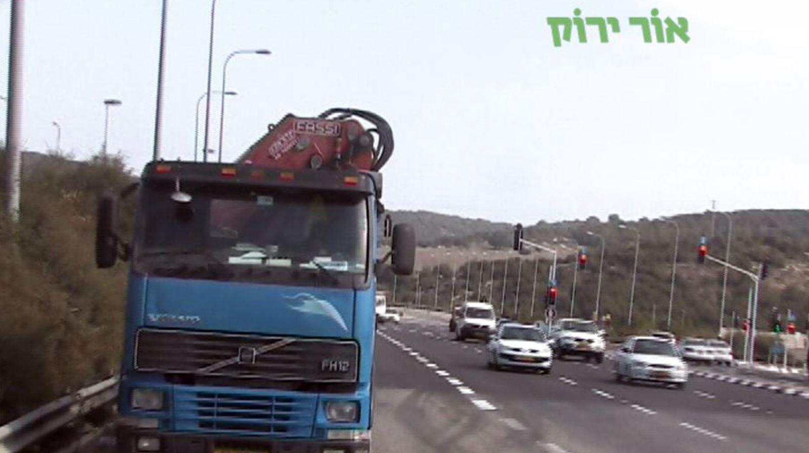 98 תאונות בהן היו מעורבים כלי רכב כבדים בעשור האחרון באילת