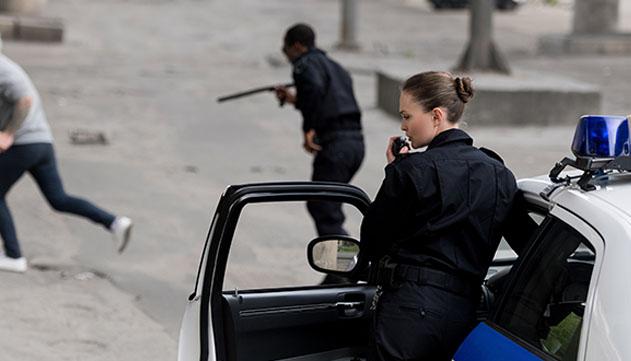 נתפס לאחר שנמלט מהרכב  ואיים לרצוח שוטר