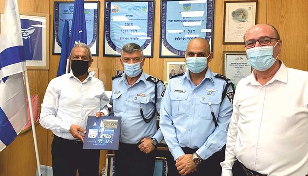 מפקד מחוז דרום של המשטרה  ביקר במרחב אילת