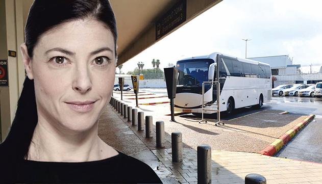 בוטל שירות האוטובוס האדום  מנתב''ג לרכבת השלום
