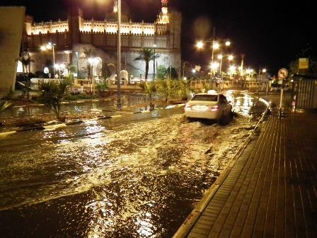 גשם מפתיע: למעלה מ-4 מ''מ שטפו את העיר