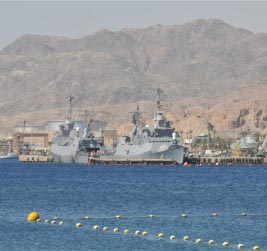 ספינות טילים הגיעו לאילת