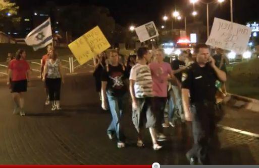 וידיאו ותמונות: סטירת לחי לעצרת המחאה