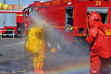וידיאו ותמונות: 2 פצועים בדליפה באזור התעשייה