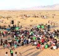למעלה מ- 1,500 תושבי האזור הגיעו לחולות סמר