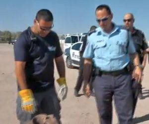 וידיאו: המשטרה תירגלה ירי טילים על אילת