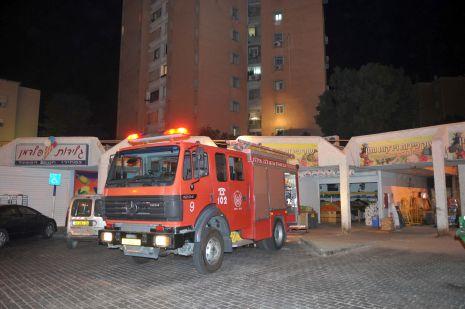 וידיאו: שריפה במרכז מ.ש.ל - אין נפגעים
