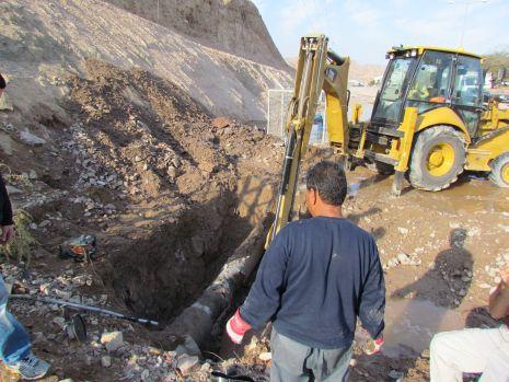 וידיאו ותמונות: קו מים מרכזי קרס