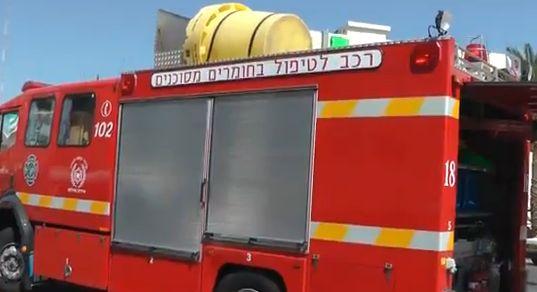 קשיש בן 80 נפצע קשה כתוצאה משריפה בחדרו