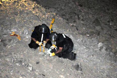 תמונות: כוחות הביטחון מטפלים בשרידי הקטיושה