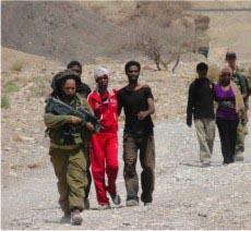 המסתננים נתקעו בסיני: צה''ל חילץ אותם לישראל