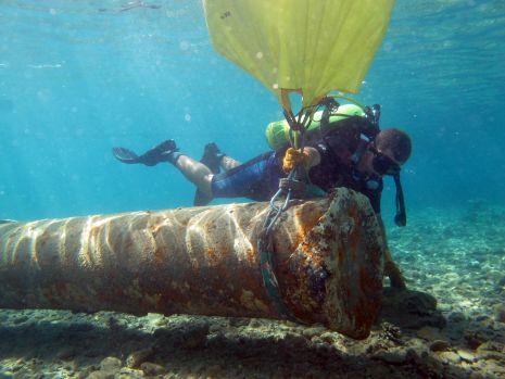 תמונות: מבצע ניקוי תת ימי באילת