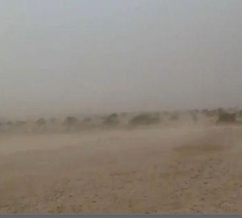 סופת חול סגרה את שדה התעופה וגרמה לנזקים